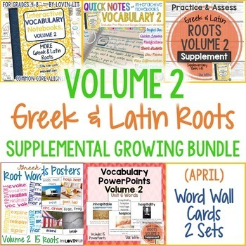 Greek and Latin Roots, Volume 2 {Supplemental Bundle}