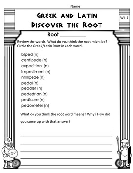 Greek and Latin Roots Word Study & Game Bundle