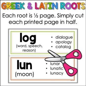 Greek and Latin Roots Word Wall