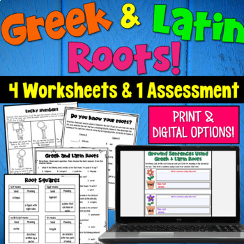 Greek And Latin Roots Worksheets And Assessment By Deb Hanson Tpt