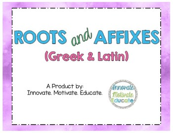 Greek and Latin Roots and Affixes Posters
