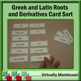 Greek and Latin Roots and Derivatives: Reference Cards and