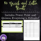 Greek and Latin Roots plus Quizzes for High  School