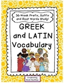 Prefixes, Suffixes, Root Words Greek and Latin