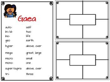 Greek and Latin Study: Gaea Introductory List