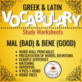 Greek and Latin Vocabulary Unit - Mal/Bene