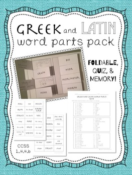 Greek and Latin Word Parts Pack