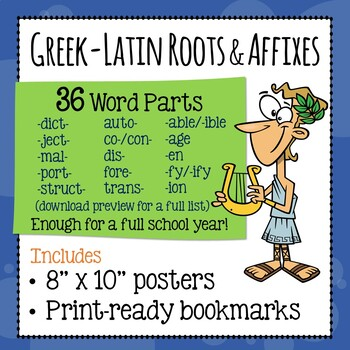 Greek and Latin Word Parts - Posters and Bookmarks