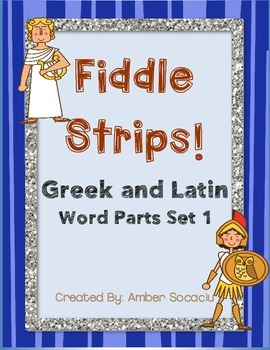 Greek and Latin Word Parts Set 1 Fiddle Strips! Game