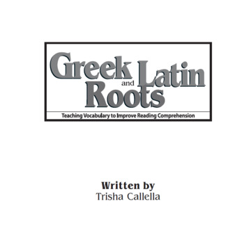 Greek and Latin Word Parts - Supplements