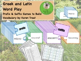 Greek and Latin Word Play, Prefix & Suffix Games to Build Vocabulary