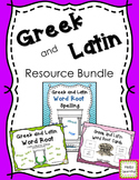 Greek and Latin Word Root Bundle- Word Lists, Root Cards and Slides
