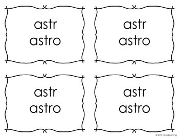 Greek and Latin Word Root Cards for Spelling and Vocabulary