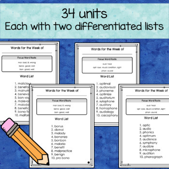 Greek and Latin Word Roots - Differentiated Spelling and Vocabulary Program