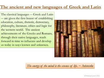 Greek and Latin Word Roots