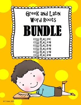 Greek and Latin Word Roots Interactive Notebook and BINGO BUNDLE