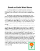Greek and Latin Word Stems