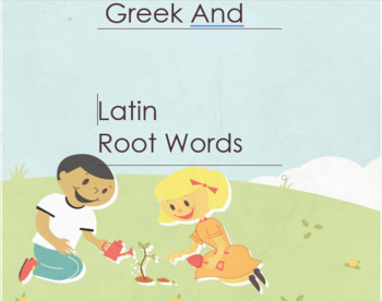 Greek and Latin Root Words identification Worksheet