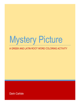 Greek and Latin root word mystery picture - Color by Greek