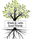 Greek and Latin root words, includes various exercises