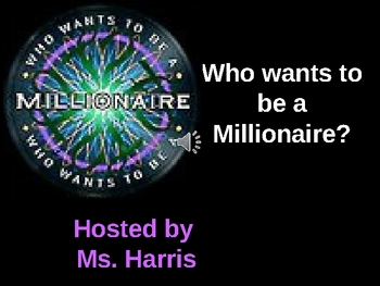 """Greek and Latin roots """"Who Wants to be a Millionaire""""Review Game"""