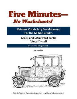 """Greek and Latin word parts: """"auto-"""" = self"""