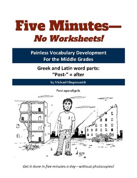 """Greek and Latin word parts: """"post-"""" = after"""