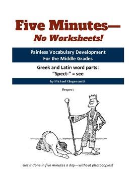 """Greek and Latin word parts: """"spect-"""" = see"""