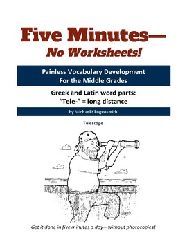 """Greek and Latin word parts: """"tele-"""" = long distance"""