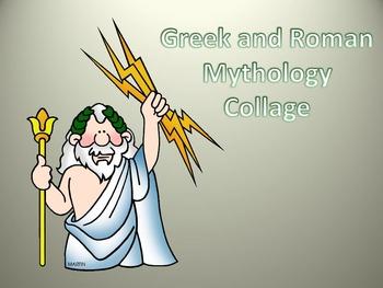 Greek and Roman Gods Collage