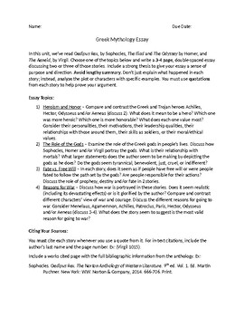 Synthesis Essay Introduction Example Greek And Roman Mythology Essay Example Of A Good Thesis Statement For An Essay also Healthy Diet Essay Greek And Roman Mythology Essay By Megan Altman  Tpt Essay Mahatma Gandhi English