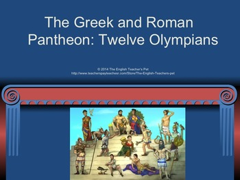 Greek and Roman Mythology Writing Project and PowerPoints