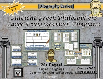 Greek and Roman Philosophers Research Activities Bundle
