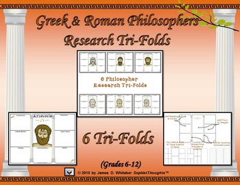 Greek and Roman Philosophers Research Tri-Folds