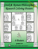 Greek and Roman Philosophers Research and Coloring Posters