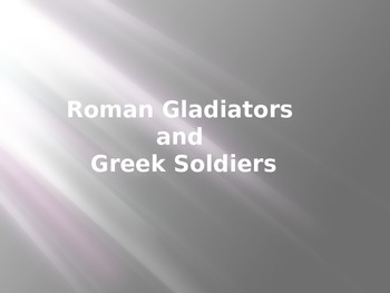 Greek and Roman Soldiers
