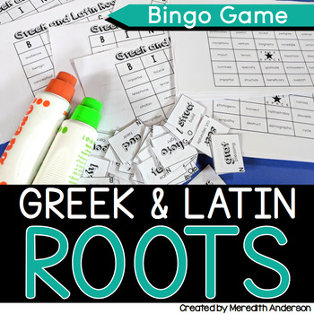 Greek and Root Words BINGO Game (Set 2)
