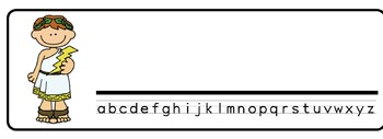 Greek gods Theme Desk Nameplates (Set of Four)