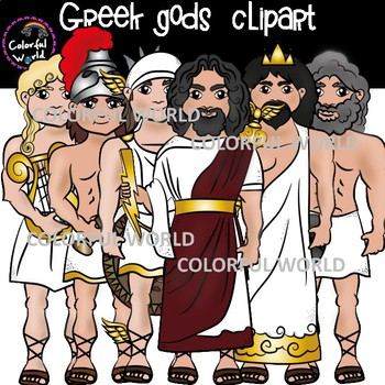Greek Olympian gods and their symbols clipart by Colorful ...