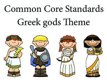 Greekgods 2nd grade English Common core standards posters