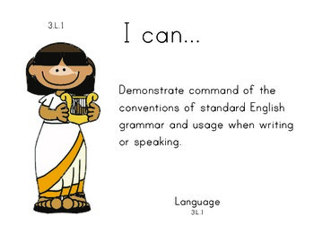 Greekgods 3rd grade English Common core standards posters
