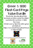 Green 1-1000 Flash Card Mega Value Bundle