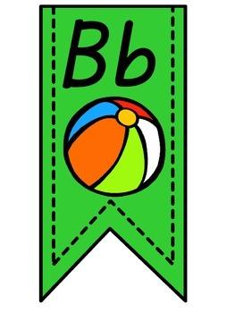 Green Alphabet Banner