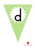 Green Alphabet Flags