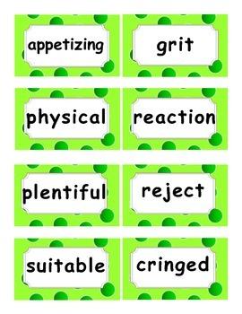 Reading Street Amazing Words Unit 1-Grade 3 (Green Polka Dot)