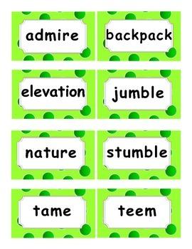 Reading Street Amazing Words Unit 3-Grade 3 (Green Polka Dot)
