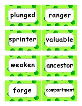 Reading Street Amazing Words Unit 4-Grade 3 (Green Polka Dot)