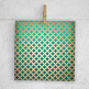 Leather Scrapbooking Paper, Green And Cream Leather Patterns