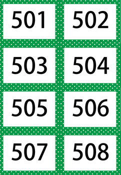 Green Apple 1-1000 Flash Card Mega Value Bundle