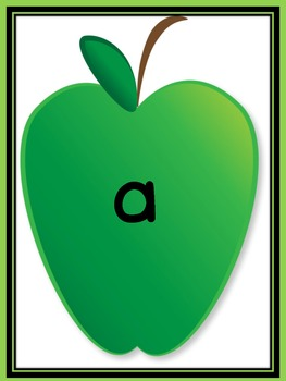 Green Apple Dolch Pre-Primer Sight Word Flashcards and Posters